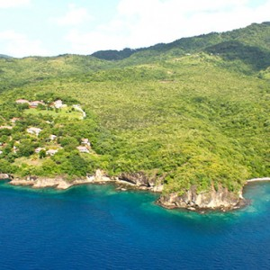Ti Kaye Resort and Spa - Luxury St Lucia Honeymoon packages - aerial view1