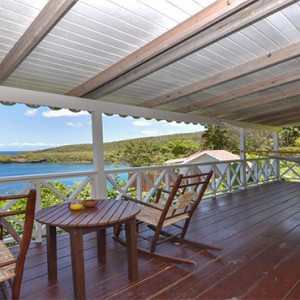 Ti Kaye Resort and Spa - Luxury St Lucia Honeymoon packages - deck with a view
