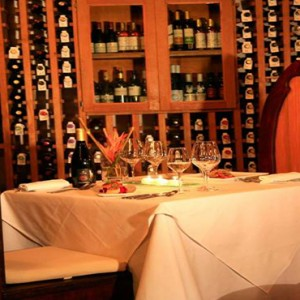 Ti Kaye Resort and Spa - Luxury St Lucia Honeymoon packages - dinner for two wine cellar