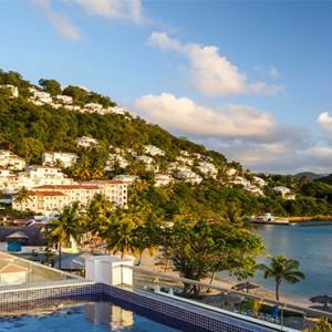 Windjammer Landing Villa Beach resort - Luxury Honeymoon St Lucia - aerial view1
