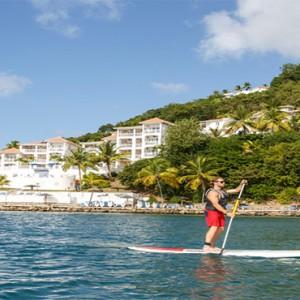 Windjammer Landing Villa Beach resort - Luxury Honeymoon St Lucia - paddle boarding