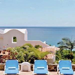 Windjammer Landing Villa Beach resort - Luxury Honeymoon St Lucia - terrace view
