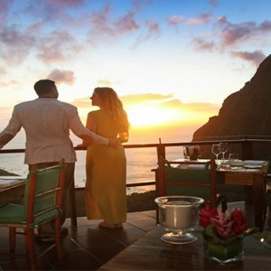 couple dining - Ladera St Lucia - Luxury St Lucia Honeymoon
