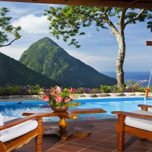 pool deck - Ladera St Lucia - Luxury St Lucia Honeymoon