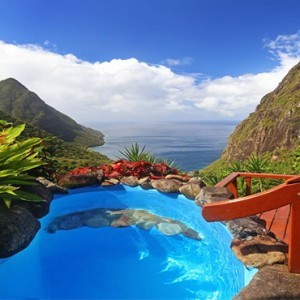 pool view - Ladera St Lucia - Luxury St Lucia Honeymoon
