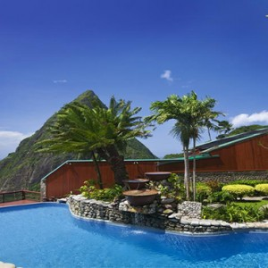 pool with a view - Ladera St Lucia - Luxury St Lucia Honeymoon