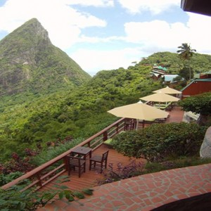 resort aerial view - Ladera St Lucia - Luxury St Lucia Honeymoon