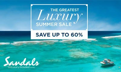 Sandals Luxury Summer Flash Sale 60% off