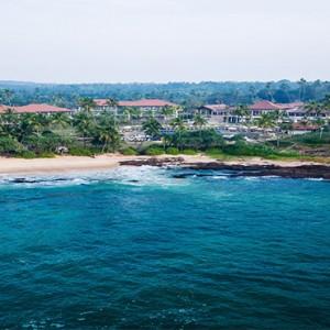 Anantara Peace Haven Tangalle Resort - Luxury Sri Lanka Honeymoon packages - aerial sea view