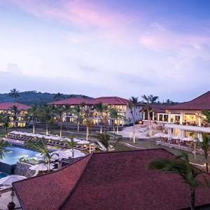 Anantara Peace Haven Tangalle Resort - Luxury Sri Lanka Honeymoon packages - aerial view at dusk