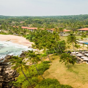 Anantara Peace Haven Tangalle Resort - Luxury Sri Lanka Honeymoon packages - aerial view1