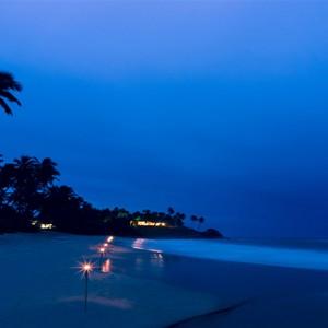 Anantara Peace Haven Tangalle Resort - Luxury Sri Lanka Honeymoon packages - beach at night