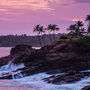 Anantara Peace Haven Tangalle Resort - Luxury Sri Lanka Honeymoon packages - cliff at sunset