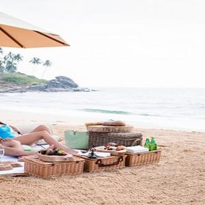 Anantara Peace Haven Tangalle Resort - Luxury Sri Lanka Honeymoon packages - couple beach picnic