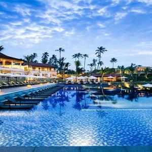 Anantara Peace Haven Tangalle Resort - Luxury Sri Lanka Honeymoon packages - pool at evening