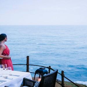 Anantara Peace Haven Tangalle Resort - Luxury Sri Lanka Honeymoon packages - seaview dining