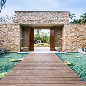 Anantara Peace Haven Tangalle Resort - Luxury Sri Lanka Honeymoon packages - spa entrance