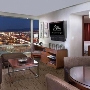 Corner Suite Strip View 5 Aria Resort And Casino Luxury Las Vegas Honeymoon Packages