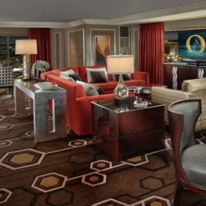 One Bedroom Lakeview suite 2 - bellagio las vegas - las vegas honeymoon packages