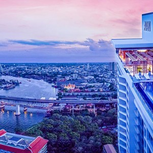 Thailand Honeymoon Packages Avani Riverside Bangkok Hotel Aerial View At Night