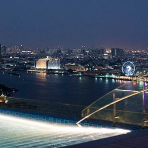 Thailand Honeymoon Packages Avani Riverside Bangkok Hotel Pool View At Night