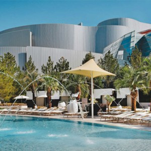 pool 3 - Aria resort and casino - luxury las vegas honeymoon packages