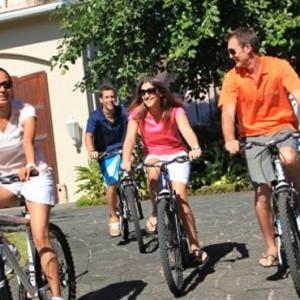 Bike ride-sugar beach resort-luxury mauritus honeymoon packages