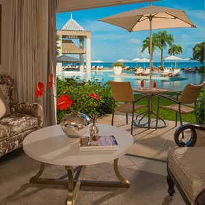 Emerald Oceanview Walkout Room - sandals regency la toc - luxury st lucia honeymoons