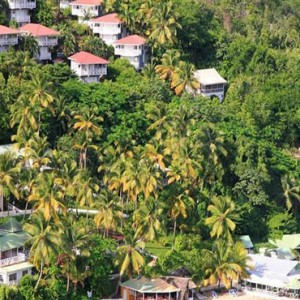 Marigot Beach Club - Luxury St Lucia honeymoon packages - aerial view