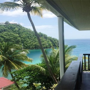 Marigot Beach Club - Luxury St Lucia honeymoon packages - balcony view