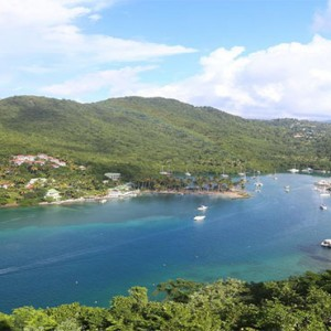 Marigot Beach Club - Luxury St Lucia honeymoon packages - location
