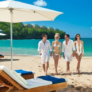 beach 6 - sandals regency la toc - luxury st lucia honeymoons