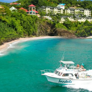 boat ride - sandals regency la toc - luxury st lucia honeymoons