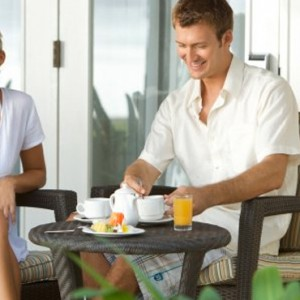 breakfast dining-sugar beach resort-luxury mauritus honeymoon packages