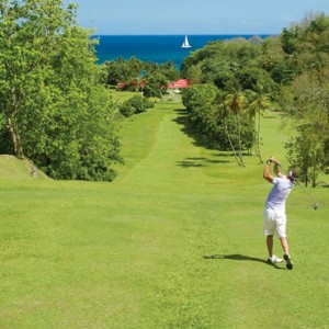golf - sandals regency la toc - luxury st lucia honeymoons