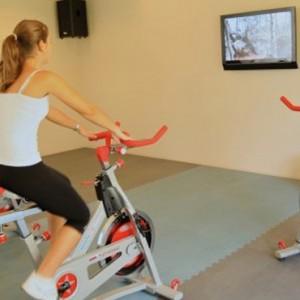 gym bike-sugar beach resort-luxury mauritus honeymoon packages