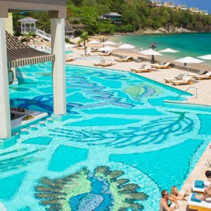 pool - sandals regency la toc - luxury st lucia honeymoons