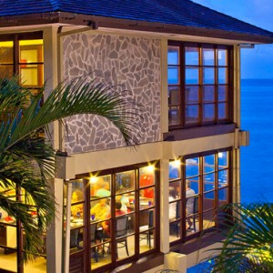 restaurant - sandals regency la toc - luxury st lucia honeymoons