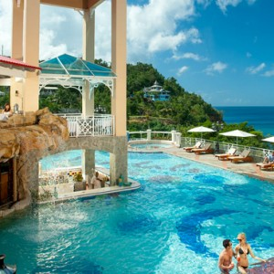sunset bluff - sandals regency la toc - luxury st lucia honeymoons