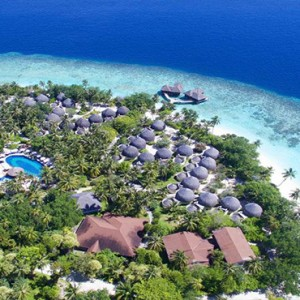 Bandos Maldives - Luxury Maldives honeymoon packages - aerial view1