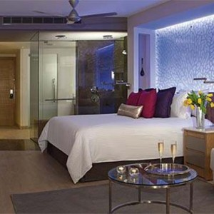 Breathless Riviera Cancun resort and spa - Luxury Mexico Honeymoon packages - Allure Junior Suite bedroom1