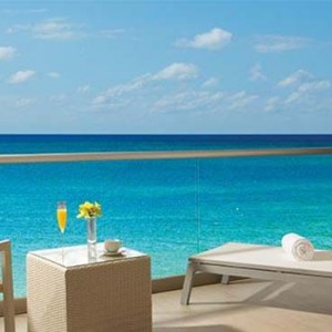 Breathless Riviera Cancun resort and spa - Luxury Mexico Honeymoon packages - Allure Junior Suite terrace