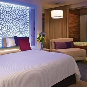 Breathless Riviera Cancun resort and spa - Luxury Mexico Honeymoon packages - Xhale Club Junior Suite bedroom
