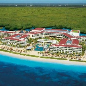 Breathless Riviera Cancun resort and spa - Luxury Mexico Honeymoon packages - aerial view