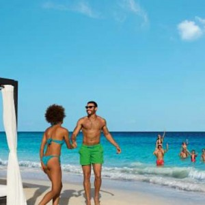 Breathless Riviera Cancun resort and spa - Luxury Mexico Honeymoon packages - beach