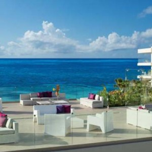 Breathless Riviera Cancun resort and spa - Luxury Mexico Honeymoon packages - purple roof terrace