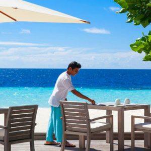 Dining Beach View Outrigger Konotta Maldives Resort Maldives Honeymoons