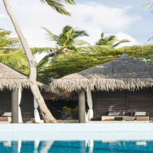 Outrigger Konotta Maldives Resort - Luxury Maldives Honeymoon Packages - Poolside dining