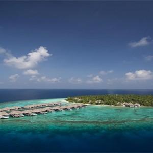 Outrigger Konotta Maldives Resort - Luxury Maldives Honeymoon Packages - aerial view