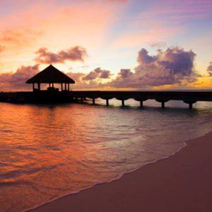 Sunset Jetty Outrigger Konotta Maldives Resort Maldives Honeymoons